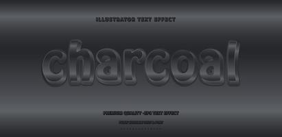 Charcoal 3D Text Style vector