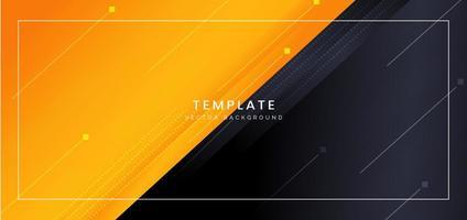 Orange and Dark Navy Dynamic Angled Background
