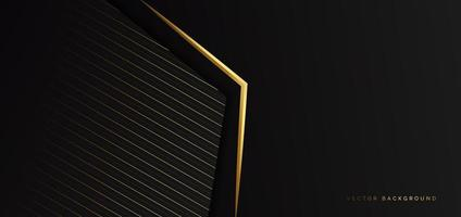 Abstract Template Black Triangle Background with Striped Lines