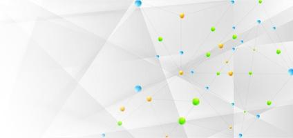 Banner Abstract Technology Connect Concept Connecting Lines and Dots vector