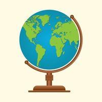 Earth globe design vector