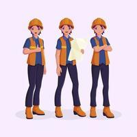 conjunto de caracteres de ingeniero vector