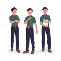 Salesman collection set vector
