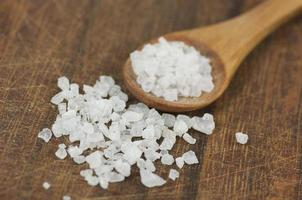 Coarse sea salt close up