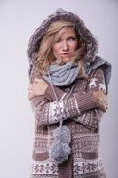 Winter girl with fur photo