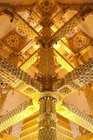 Thai style art temple photo