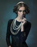 noble antique lady photo