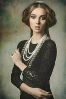 beauty dame with antique style photo
