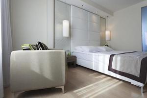 interior de dormitorio de lujo foto