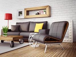 3d ilustración interior foto