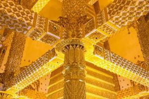 Thai style art temple, Wat Phrathat Nong Bua, Thailand photo