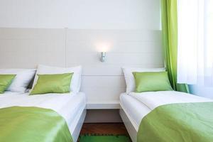 Hotel bedroom interior