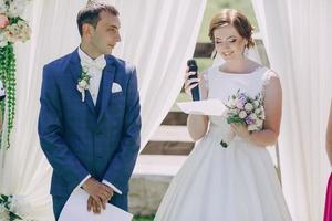 Arch wedding ceremony photo