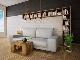 3d ilustración interior