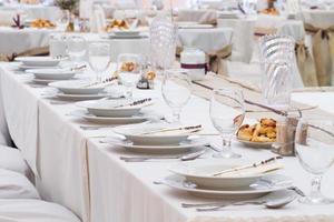 wedding table set photo