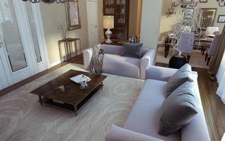 sala de estar estilo art deco