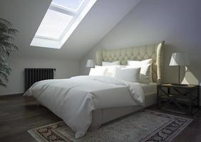 interior de dormitorio clásico. foto