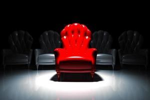 sillón exclusivo rojo foto