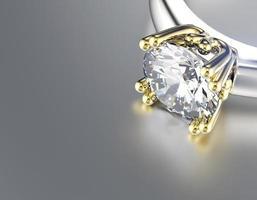 Wedding Ring with diamond. Fashion Jewelry background photo