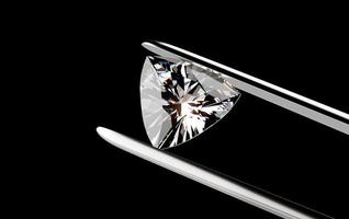 Diamond in the tweezers photo