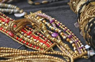 ancient gold jewelry and precious jewels for sale photo