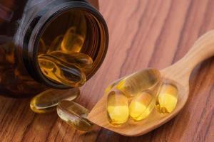Close-up fish oil omega3 photo