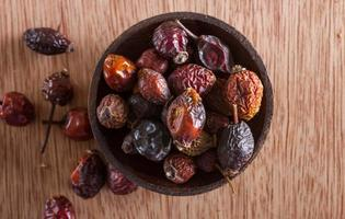 Dried rose hips photo