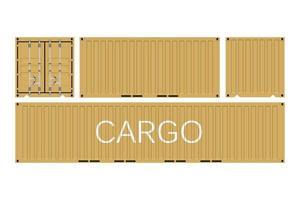 contenedor de carga de envío vector