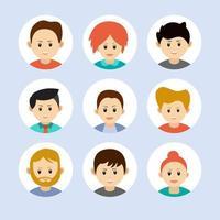 iconos de avatar de personas. vector