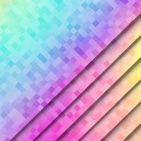 Abstract, colorful pixel square pattern background vector