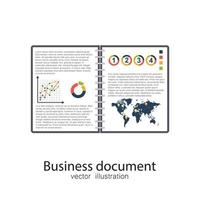 Opened business document vector