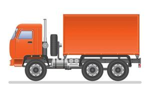 vista lateral de um caminhão isolado