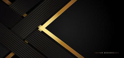 Modern black template with twisted golden stripes in a luxury style