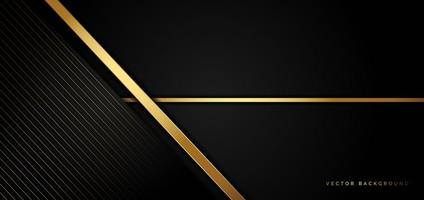 Black business background with golden stripes in a luxury style