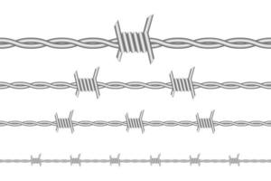 Barbed wire isolated  vector