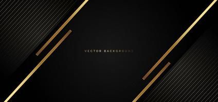Black background with golden stripes in a luxury style  vector