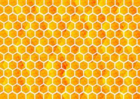 Abstract yellow and orange gradient, hexagon background vector