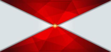 fondo geométrico blanco y rojo vector