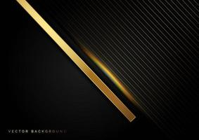 Gold diagonal lines with light effect luxury-style background  vector
