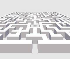 Complex 3D maze vector