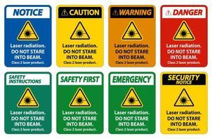 Laser radiation signs