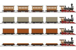 locomotora clásica y vagones