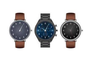 Realistic classic wristwatch