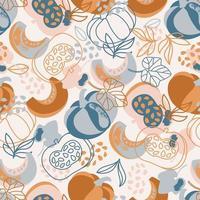 padrão desenhado à mão de abóbora
