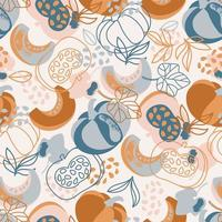 Pumpkin Hand Drawn Pattern