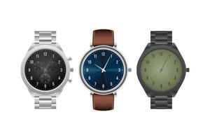 Classic wristwatch isolated vector