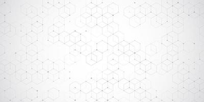 Modern hexagonal grid  vector