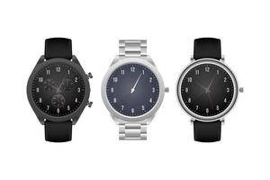 Classic hand watch isolated