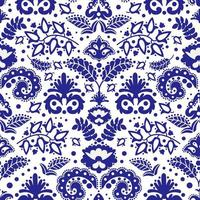 Blue Ornament Seamless Pattern vector