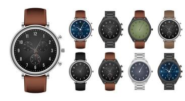 Set of realistic hand watch